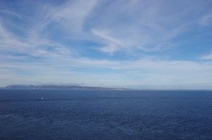 View from Dunnet Head - most northerly point of Great Britain (excepting islands).  Here looking at Orkney Island over the Pentland Firth.