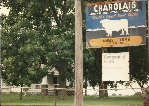 Lamme Farm Charolais sign