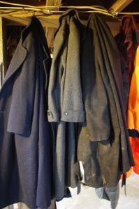 Found tw 100% wool coats for working in - total cost was $7 for both.