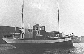 Aksel, one of the first fishing boats used during Operation Shetland Bus