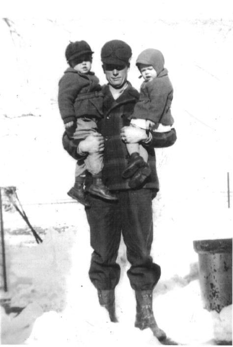 Grandpa Virgil Lee Falconer with Stanley and Stephen