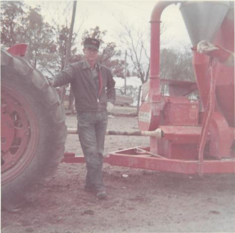 Virgil Lee Falconer tractor grinder