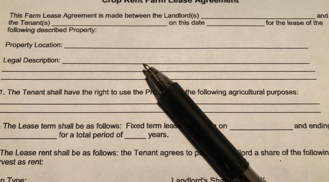 Writing a Farm Lease
